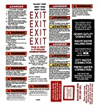 1 Rv Trailer Camper Motor Home Warning Caution Decal Sticker Sheet -938