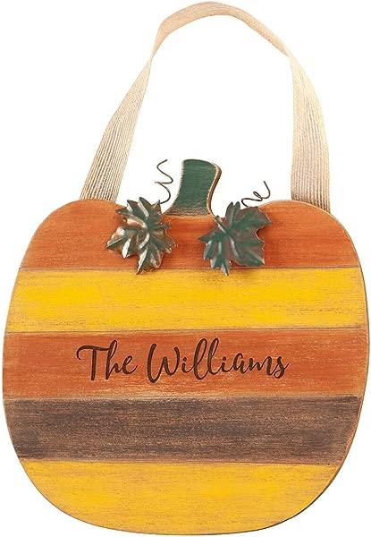 Fox Valley Traders Personalized Pumpkin Door Hanger Customized Autumn Home Accent D Cor 10 X 14