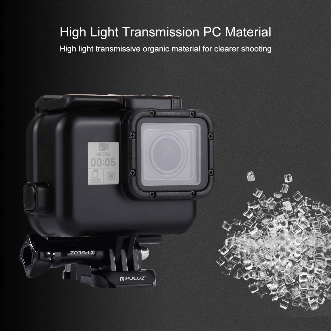 2018 with Buckle Basic Mount /& Screw Color : Color2 // HERO7 Black //6//5 No Need to Remove Lens Hsifeng Hesifeng Hsifeng 60m Waterproof Housing Protective Case for for GoPro Hero