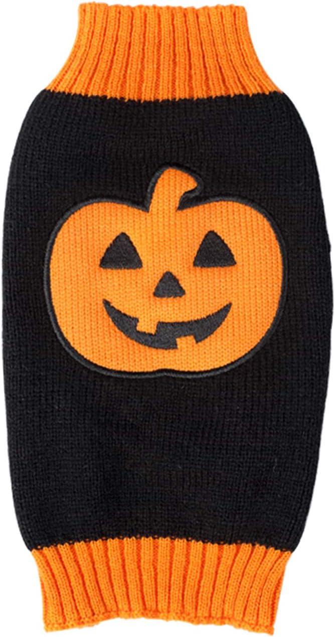 BOBIBI National products Under blast sales Pet Clothes The Halloween Kn Cat Sweater Dog Pumpkin