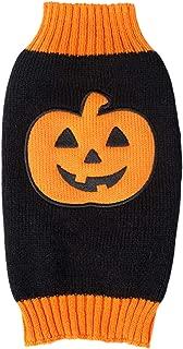 BOBIBI Pet Clothes The Halloween Pumpkin Cat Dog Sweater, Dog Knitwear, Dog Apparel, Pet Sweatshirt