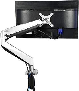 Monitor Mount Full Motion Monitor Arm Stand, Height Adjustable Computer Monitor Riser with Gas Spring, C Clamp, Cable Management for 10-34 inches,13.2-33 lbs LCD Screens