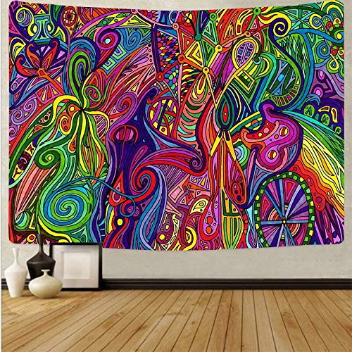 Arte psicodélico tela colgante decoración del hogar tapiz dormitorio dormitorio revestimiento de paredes tela de fondo abstracto a1 73x95 cm