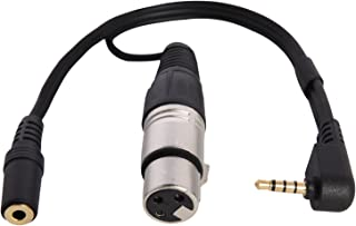 LyxPro XLR Female to TRRS, Connects Professional XLR Microphones to iOS, iPhone, iPad, and iPod Includes Output for Headphones, Small (10 Inches)