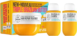 Triple Brazilian Butter Hair Mask with Mini Brazilian Joia Shampoo and Conditioner Set