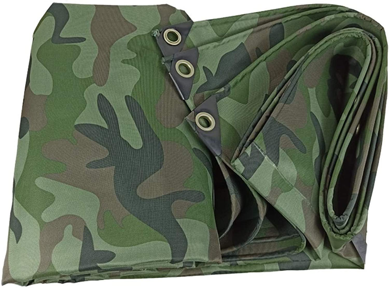 Camouflage Tarpaulin Awning,Portable Outdoor Carpet Mat, Breathable Weatherproof, Truck Rainproof Cloth, Car Rain UV (Size   8mx6m)