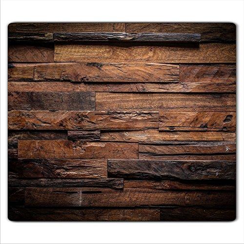 decorwelt | Herdabdeckplatte 60x52 cm Ceranfeldabdeckung 1-Teilig Universal Elektroherd Induktion für Kochplatten Herdschutz Deko Schneidebrett Sicherheitsglas Spritzschutz Glas Ziegel