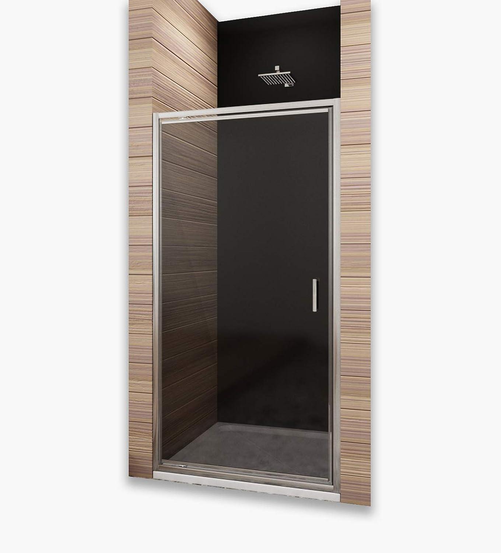 80cm Dusche Pendeltür Duschtüren aus Glas Nischentür nische Duschwand Duschabtrennung Hhe 185cm grau