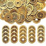 mengger Chinesische Glücksmünzen Feng Shui I-Ching Münzen für Glück Gesundheit und Reichtum 100 Stücke -