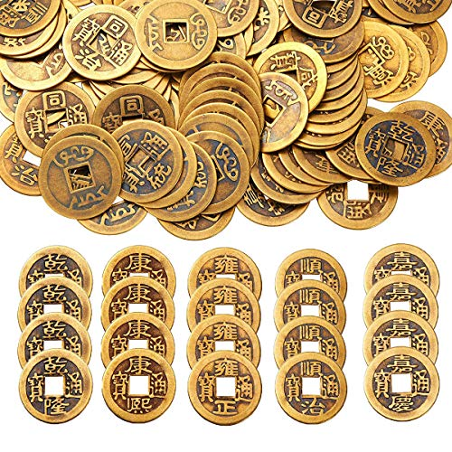 Mengger Monedas Chinas Juguete Feng Shui Antiguas I-ching Mo