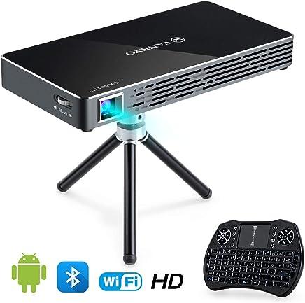 $248 Get VANKYO Passport M50 DLP Smart Mini Portable Projector, 100 ANSI Lumens w/Andriod 7.1 OS Pre-Installed, WiFi, HDMI, USB Micro SD Ports Free Mini Wireless Keyboard Tripod