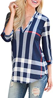 Best brown and blue check shirt Reviews