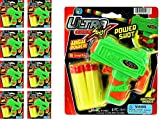 JA-RU Ultra Foam Dart Gun Super Mega Powerful Shotgun Blaster Shot Handgun for Kids and Adults Great Party Favor Set Plus 1 Bouncy Ball (8 Packs). 5483-8p