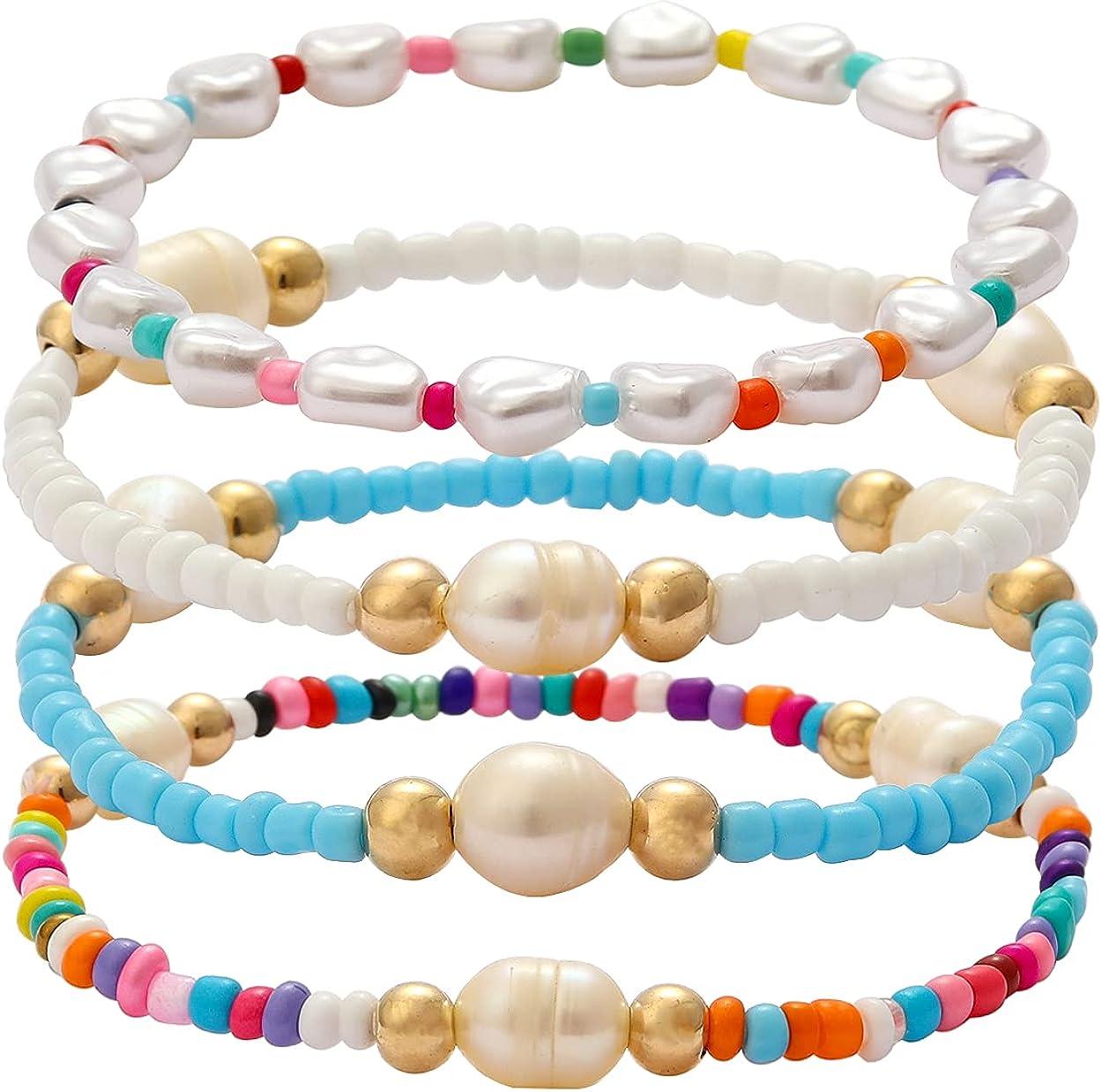 Alternative dealer Stacked Colorful Beaded Bracelet Ranking TOP12 for B Seed Girls Women Bohemian