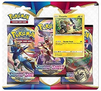 Pokemon TCG: Espada y Escudo 3 Pack Booster (uno al azar) (172-80655) , color/modelo surtido de Pokemon