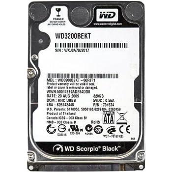 Western Digital Wd Scorpio Black Wd3200bekt - Hard Drive - 320 Gb - Sata-300 (wd3200bekt) -