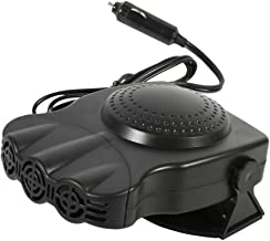 Portable 12V Car Auto Heating Cooling Fan, Car Vehicle Heater Fan Defroster Demister Winter with Rotary Holder (A - 3 Wide) (B)