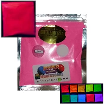 Glow in the Dark UV Reactive Pigment Powder 25g ALL 7 Colours