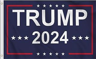 KENPMA Trump 2024 Flag 3x5 ft Dorm Room House Wall Banner Garden Porch Yard Sign Lawn Patio Decor Flags with Grommets - Pr...