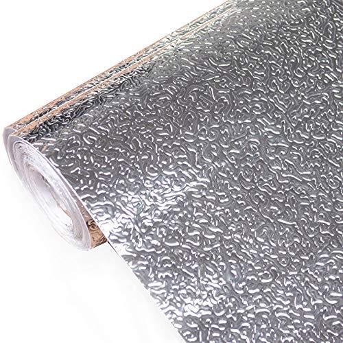 kitchen-dream Silberfolie Tapete-Küche Aufkleber Selbstklebende Küche Aluminiumfolie Aufkleber Öl Proof wasserdichte Küchenherd Aufkleber (A, 30CM*3M)