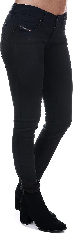 Diesel Womens Stretch Jeans Grupee 0800R Superslim Skinny Black