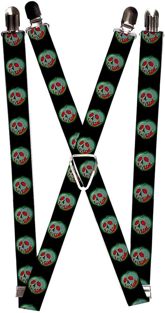 Buckle-Down Suspenders-Poisoned Apple Black/Green/red