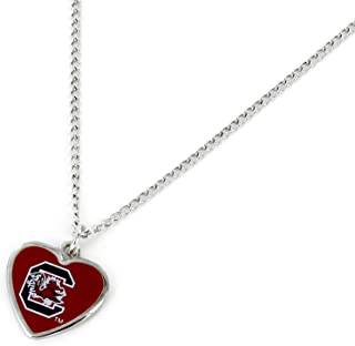 NBA Oklahoma City Thunder Swirl Heart Necklace