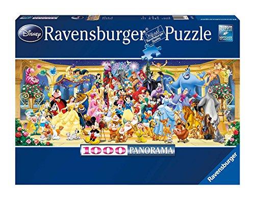 Ravensburger Personaggi Disney, Puzzle Panorama con Tecnologia Softclick, per Adulti, 1000 Pezzi