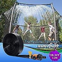 トランポリンスプリンクラー裏庭スプレーヤーウォーターパーク楽しい夏の水のおもちゃ39.3FT屋外トランポリンスプリンクラー男の子と女の子