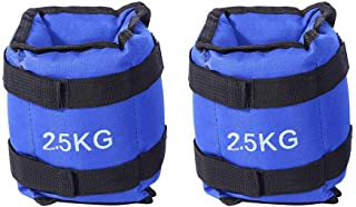 Ankle Weights for Men, 2Pcs 2.5KG Wrist Leg Weights with Adjustable Strap for Fitness, Exercise, Walking, Jogging