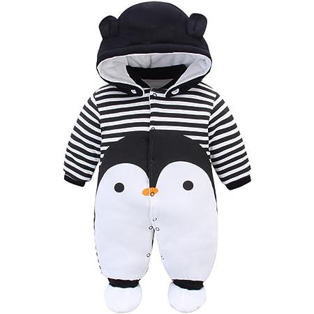 LUCKME Baby Overall 3D Tier Strampler Winterjacke Onesie Unisex Cartoon Baby Strampelanzug mit Kapuze 12 Monate