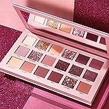 Lidschatten Palette Golden Pailletten 18 Farbe Rosa Lidschatten Glitter Shiny Eyeshadow Powder...