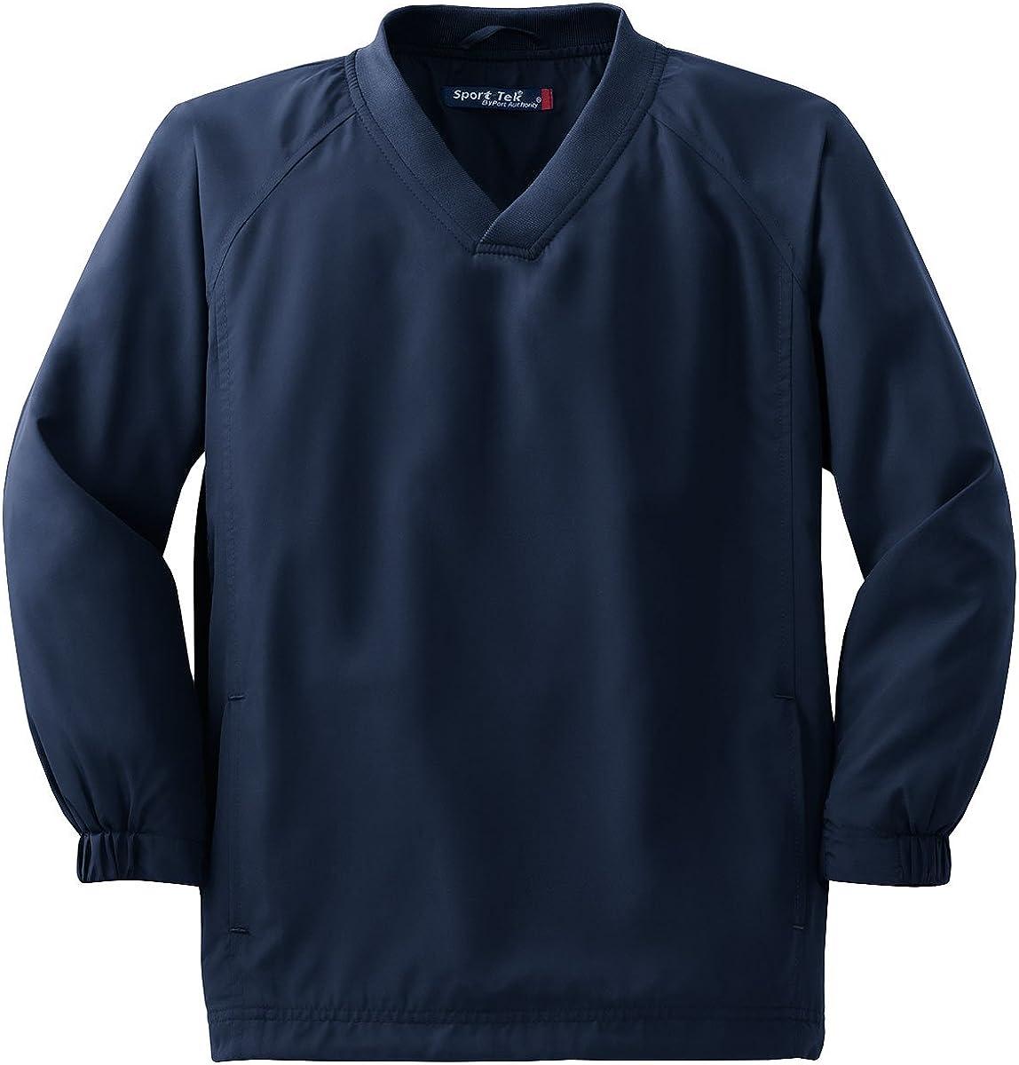YST72 Youth V-Neck Raglan Wind Shirt True Navy S