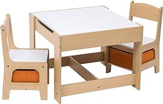 E-starain Infantil de Mesa y Asientos para Niños Juego de M