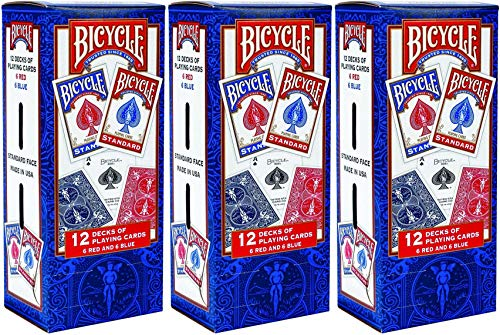 Bicycle Playing Cards - Poker Size - 3 Pack of 12