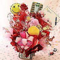 【キャンディーブーケ】スイーツ・アレンジ「スマイルキャリー」【誕生日 ギフト プレゼント 記念日】