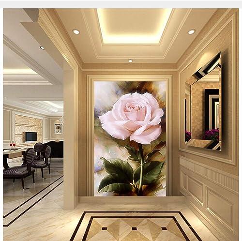 Meaosy Gewohnheit 3 D, Rosafarbenes  em e Für Die Wasserdichte Tapete Der Wohnzimmerschlafzimmer FernsehhinterGründwand-450X30cm
