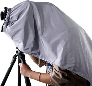 eTone Silver Black Professional Focusing Hood Dark Cloth for 4x5 Large Format Camera Warpping Protection