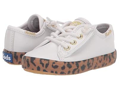 Keds Kids Kickstart Seasonal (Toddler/Little Kid) (White/Leopard) Girl