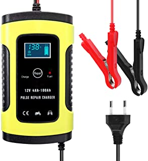 12V 6A Full Automatic Car Battery Charger Intelligent Fast Power Charging Pulse Repair Chargers Wet Dry Lead Acid Battery-...