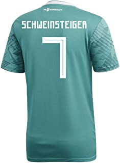 adidas Schweinsteiger #7 Germany Away Soccer Stadium Men's S/S Jersey World Cup Russia 2018