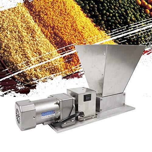 Electric Grain Mill Barley Grinder Malt Crusher Roller Grain Mill Grain Grinder Home Brew Mill Food Grade Stainless Steel Cereal Beans Mill+4pcs Hopper Dy-368 110V 40W (US STOCK)
