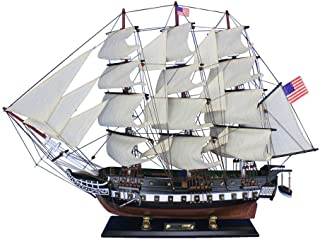 Hampton Nautical Wooden USS Constitution Tall Model Ship, 30