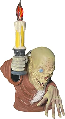 2021 Crypt Keeper Statue, The Hell Guard Candlestick Ornaments, Halloween Decorative Candle Light, Resin Figures Sculpture high quality for Home Bookshelf new arrival Desktop LED Decor Lights online sale