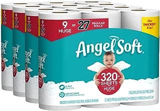 Angel Soft Toilet Paper, 36 Huge Rolls, 36 Rolls = 108 Regular Rolls, Bath Tissue