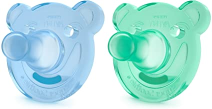 Philips Avent Soothie Shapes Pacifier, Green/Blue, 3+ months, 2 pack