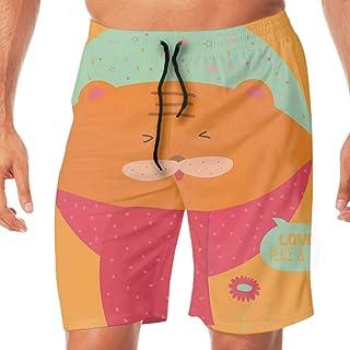 水着 スイムウェア サーフパンツ 海水パンツ 海パン ハーフパンツ ショートパンツ メンズ Merry Christmas Cartoon And Funny Animals