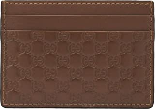 Gucci Unisex Acero Brown Micro-Guccissima GG Small Card Case 262837