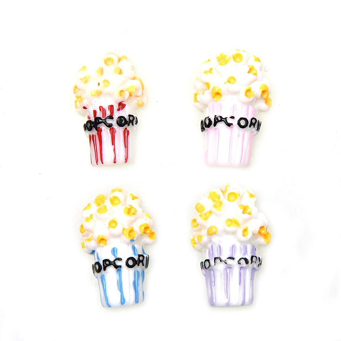Monrocco 40Pcs Popcorn Slime Charms Resin Flatback for Craft Making,DIY Scrapbooking Accessories