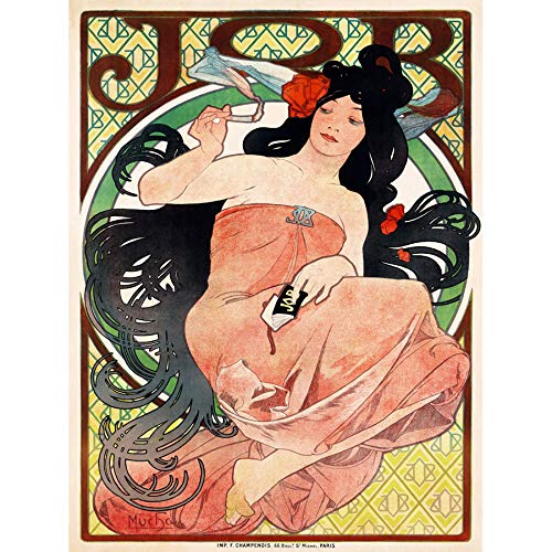 Doppelganger33 LTD Ad Vintage Much Job Cigarette Paper Tobacco Paris Art Large Framed Art Print Poster Wall Decor 18x24 inch Supplied Ready to Hang
